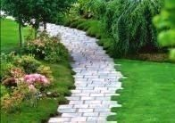 Photo of #gardendesign #frontgarden #gardenpaths #colorful #flowers