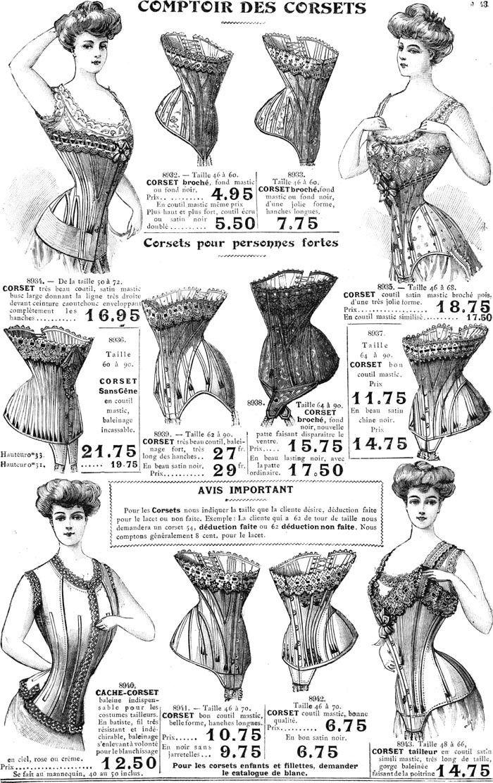 0bbddbb5c8 Illustration - Lingerie Vintage - Corsets - 1906-1907
