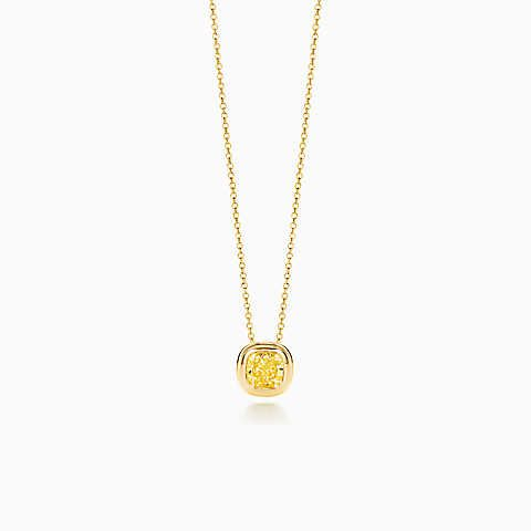 Tiffany bezet yellow diamond pendant in 18k gold my wishlist tiffany bezet yellow diamond pendant in 18k gold mozeypictures Image collections