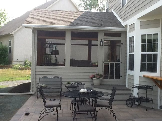 A Beautiful Screened Porch And Large Paver Patio Makes Up This Wonderful  Outdoor Combination In Dublin