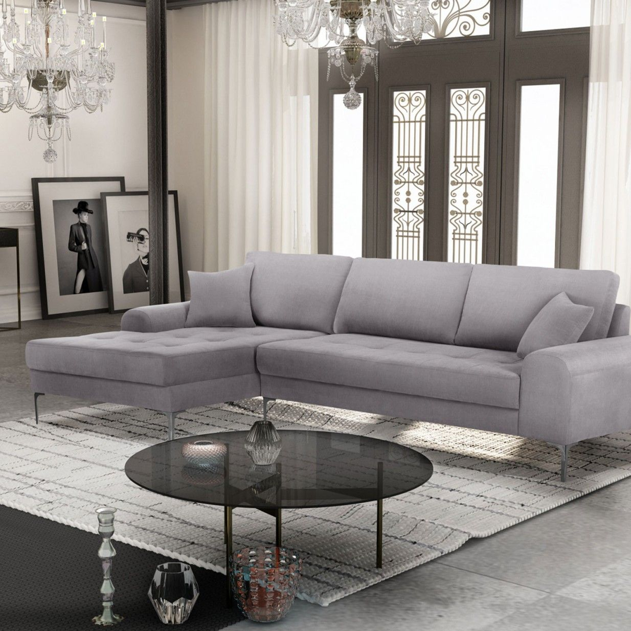 left corner sofa light grey corinne cobson ideas for the house ideas for the house. Black Bedroom Furniture Sets. Home Design Ideas