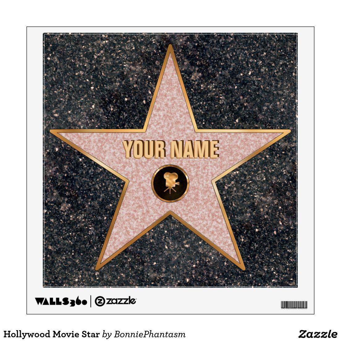 Custom Hollywood Birthday Dressing Room Door Star Wall Sticker Jpg 1104x1104 Personalized Template