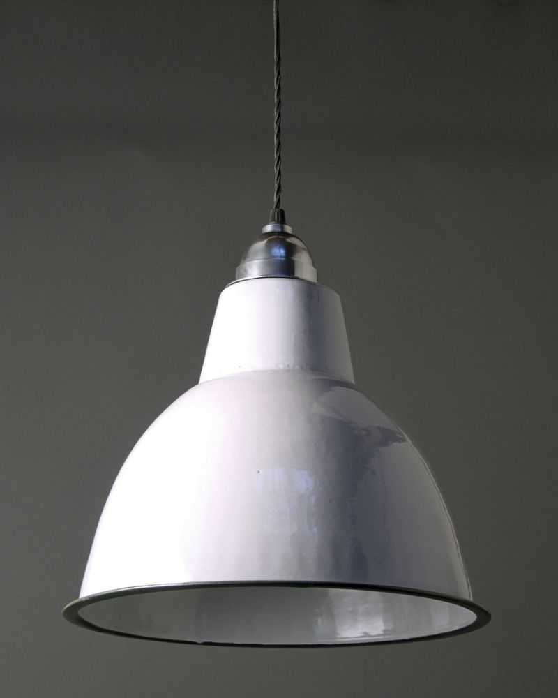 Grey enamel pendant light lighting pinterest pendant grey enamel pendant light aloadofball Image collections
