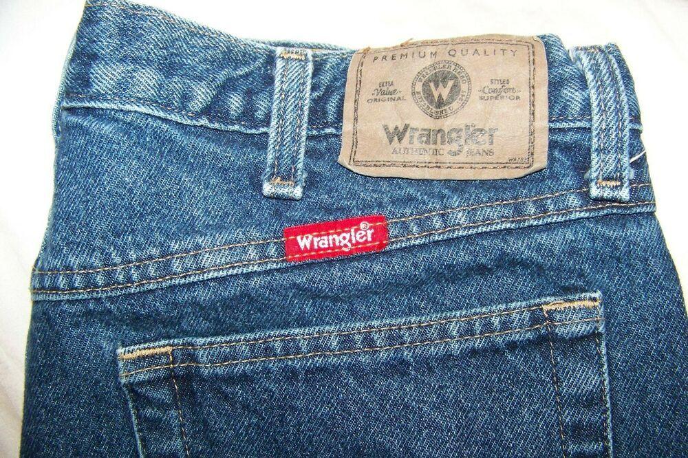 Mens denim jeans wrangler premium quality straight leg