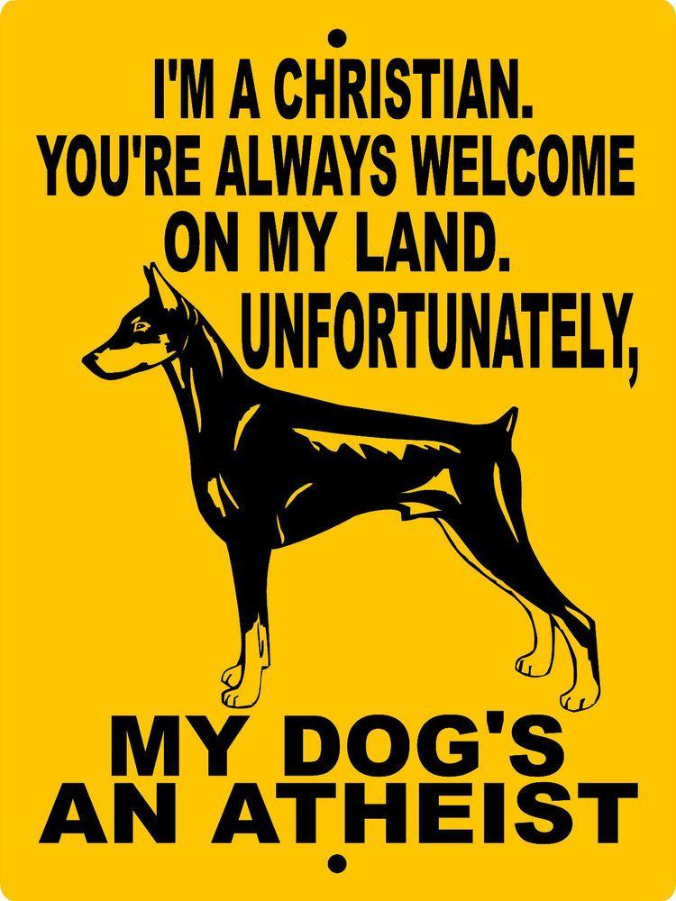 Doberman Pinscher Dog Sign 9 X12 Aluminum 2827d Doberman