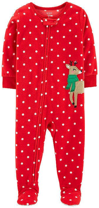 1ad423b41d86 Carter s Holiday Long Sleeve One Piece Pajama - Toddler Girls Long ...