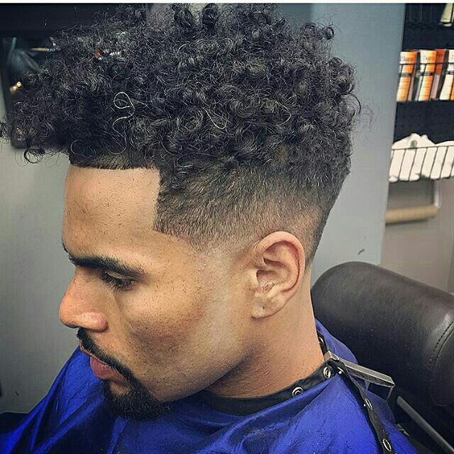 curls and sick fade hair