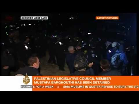 Palestinian politician Mustafa Barghouthi speaks to Al Jazeera
