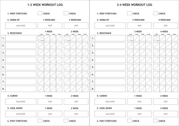 Made this 4 weeks gym log card Only here on Pinterest! May be - workout tracking sheet