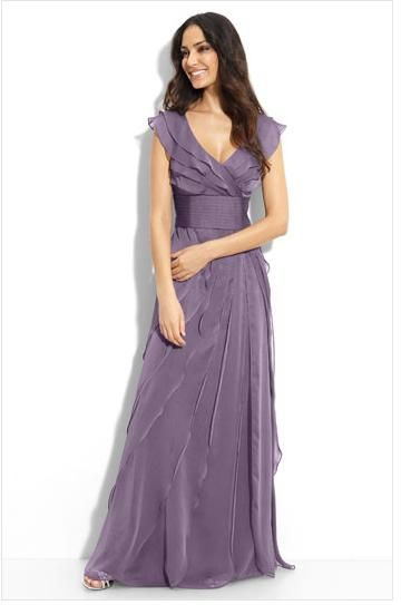 Casual Purple Wedding Dress