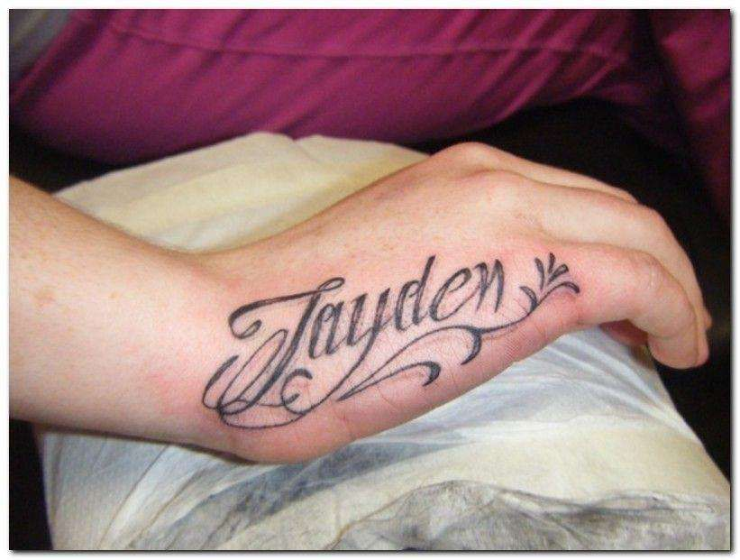 Hand Name Tattoos Of Your Beloved One Tattoos Blog Name Tattoos Name Tattoo On Hand Baby Name Tattoos
