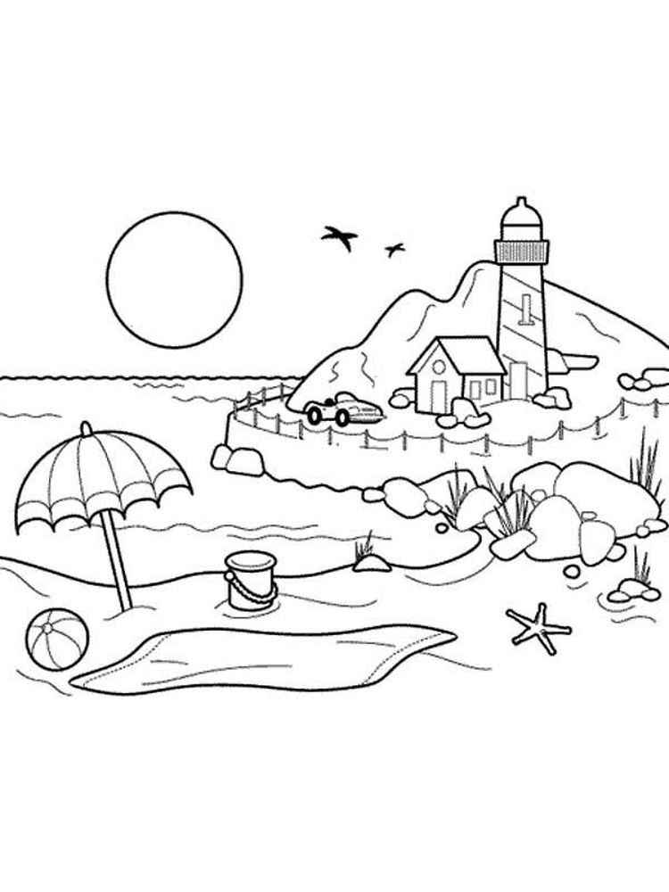 Realistic Lighthouse Coloring Pages Below Is A Collection Of Lighthouse Coloring Page Which You Can Do Beach Coloring Pages Coloring Pages Cool Coloring Pages