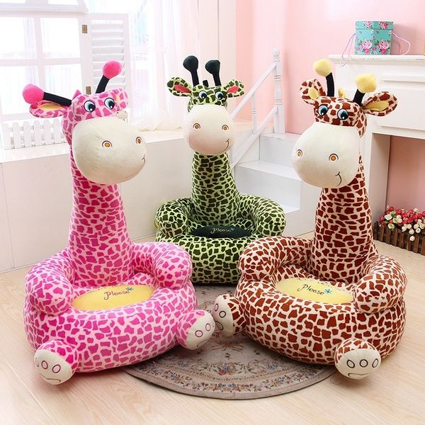 Cute Cartoon Child Beanbag Frog Giraffe Sofa Toy Dog Monkey Seat