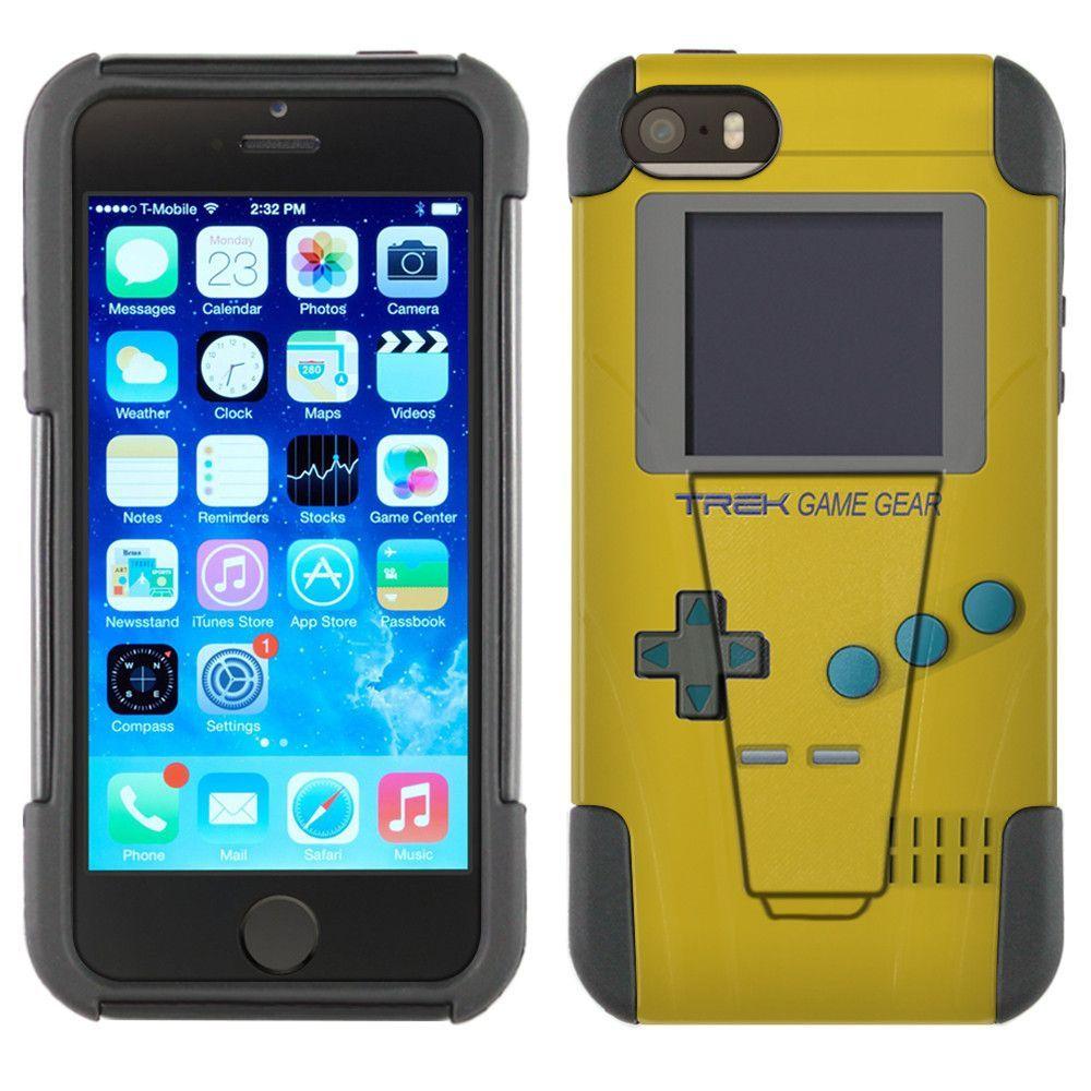 Apple iPhone 5 Hybrid Stand Case - Old School Retro TREK™ Game Gear Yellow
