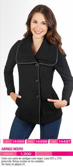 Abrigo negro para mujer
