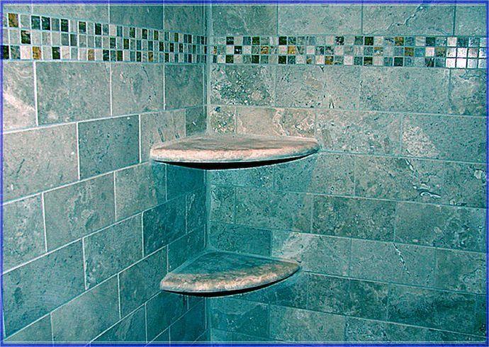 Blue Subway Tile Shower Designs