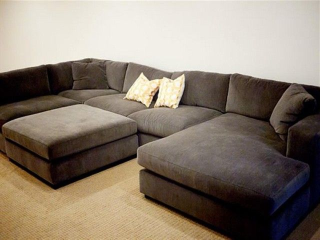 Fabric Sectional Sofas With Chaise Sectional Sofa Comfy Deep