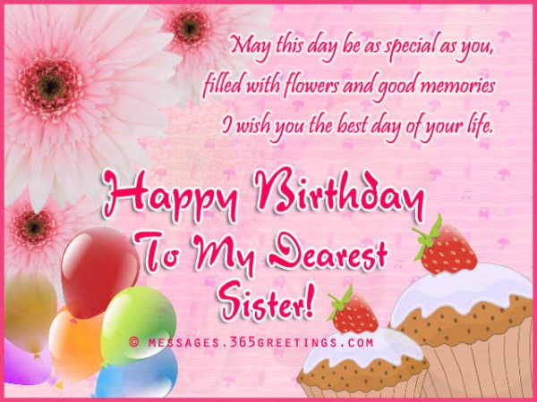 Happy Birthday Wishes For Sister And Messages