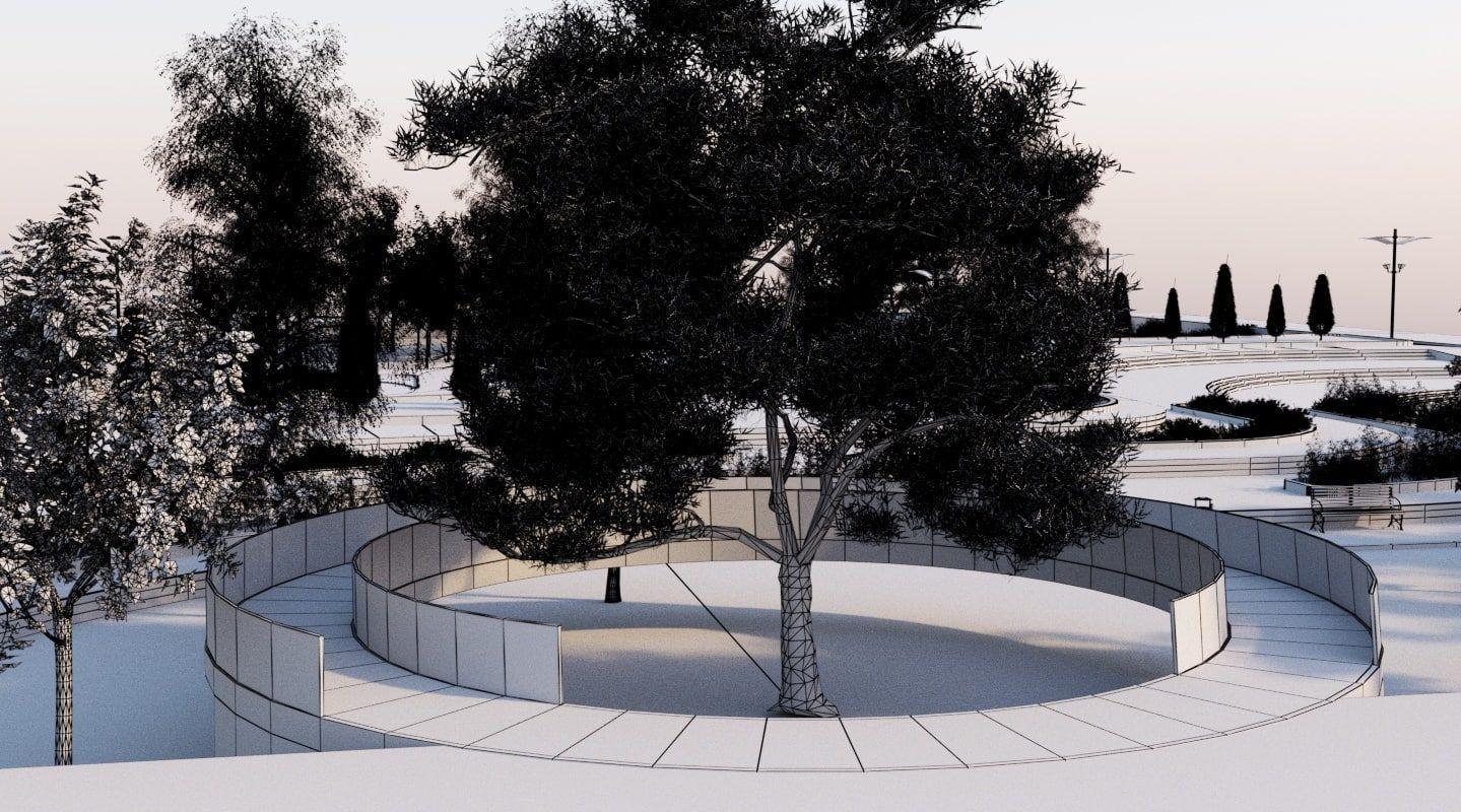 Landscape Park 2 3d Model Landscape 3d Model Park Landscape