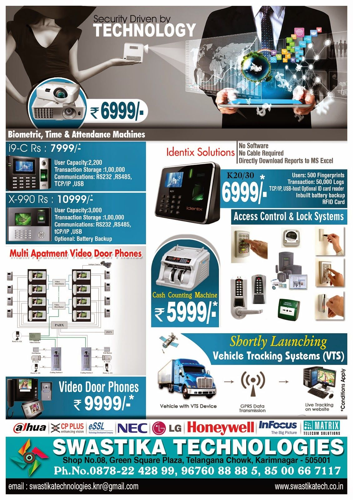 NaveenGFX Com Swastika Technologies Brochure Design