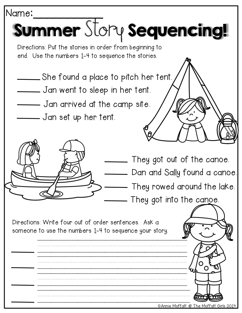 Summer Packet No Prep Review 1st Grade With Images
