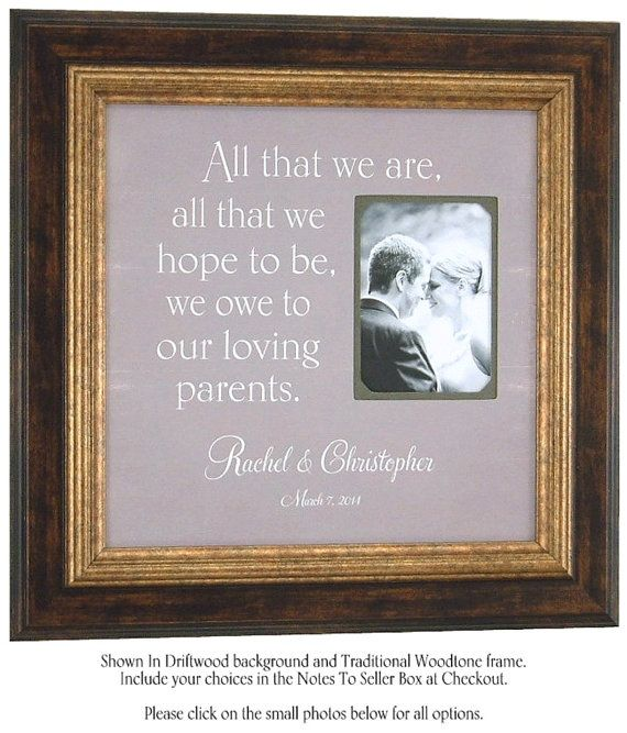 Wedding Picture Frame PARENTS Wedding Gift by PhotoFrameOriginals ...