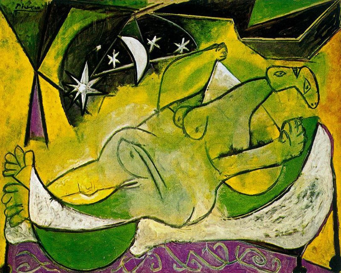 Pablo Picasso - A Reclining Female Nude, (1936)