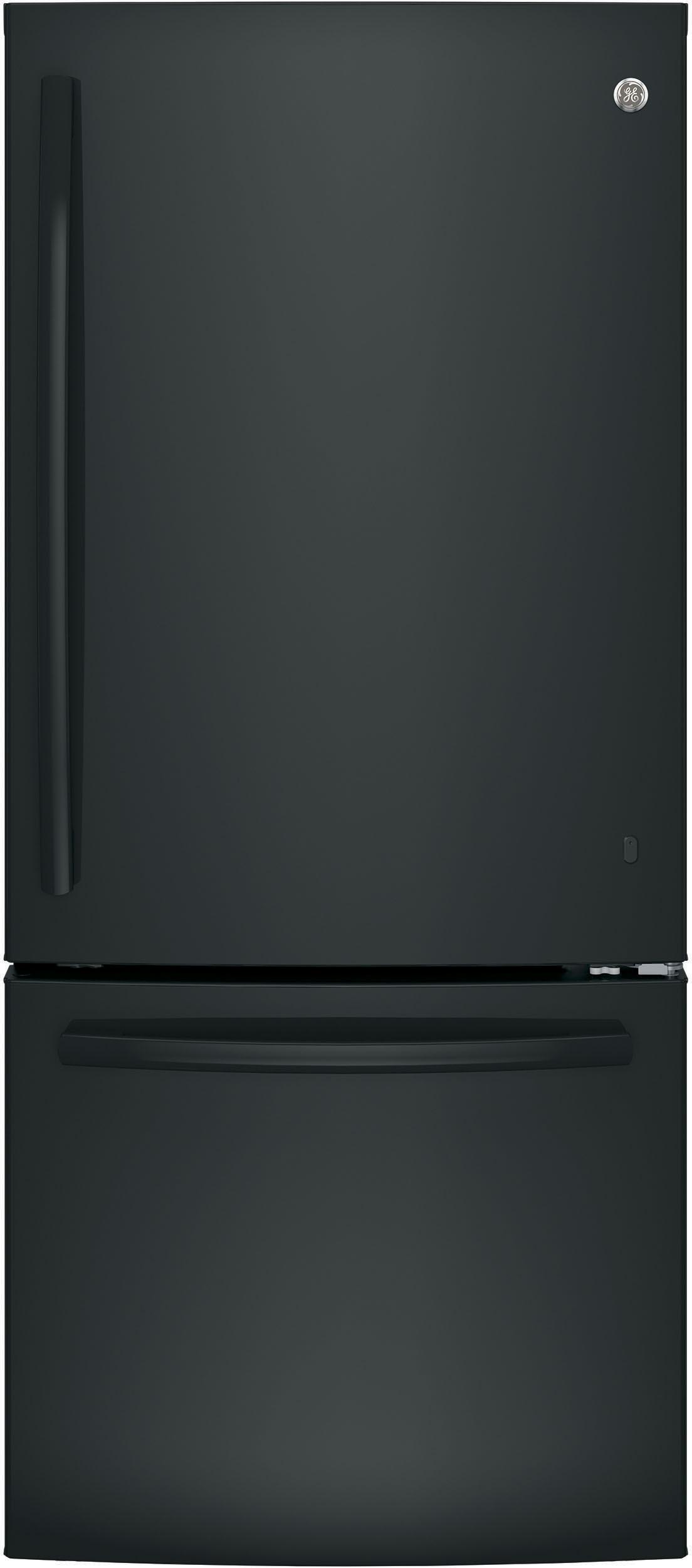 Ge Gbe21dgkbb 30 Inch Bottom Freezer Refrigerator With 20 9 Cu Ft Capacity Led Lighting 2 Ad Bottom Freezer Adjustable Shelving Bottom Freezer Refrigerator