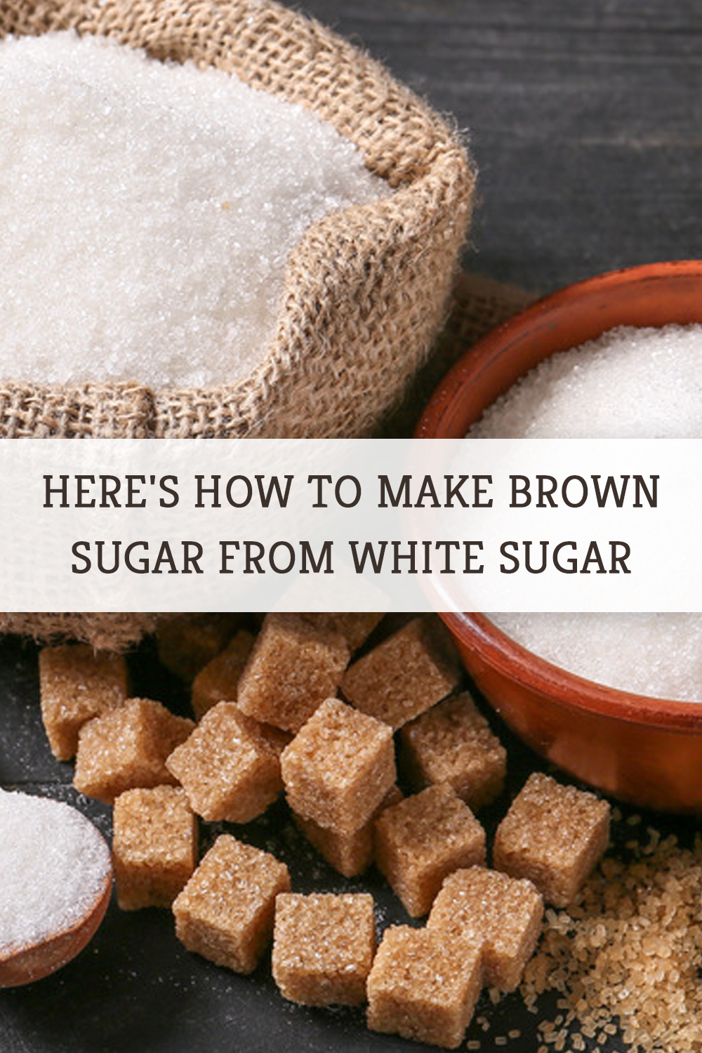 Here S How To Make Brown Sugar From White Sugar Make Brown Sugar How To Make Brown Brown Sugar