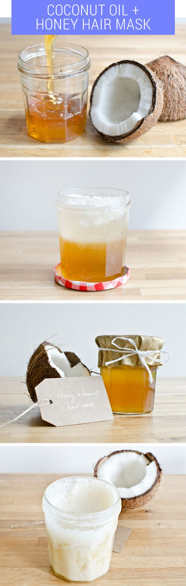 DIY Coconut Oil and Honey Hair Mask, With Only Three