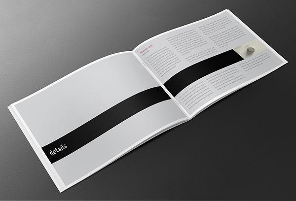 Elegant Series - A4 Landscape Book \ Brochure by andersdenkend - landscape brochure