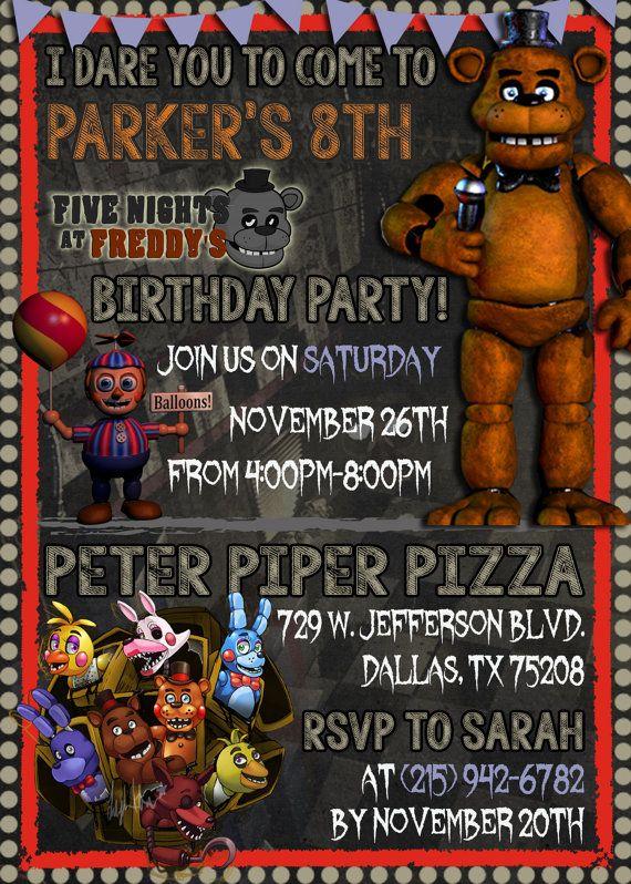 Five Nights At Freddys Birthday By LittleKingdomDigital On Etsy