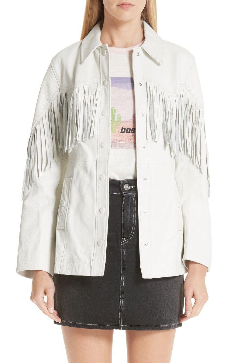 Ganni Leather Jacket Nordstrom Designer Leather Jackets Jackets Leather Jacket [ 1196 x 780 Pixel ]