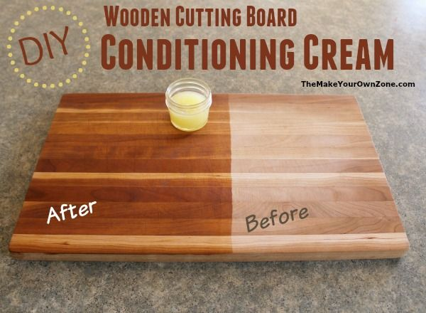 Diy wooden cutting board conditioning cream cuttings for Homemade furniture polish mineral oil