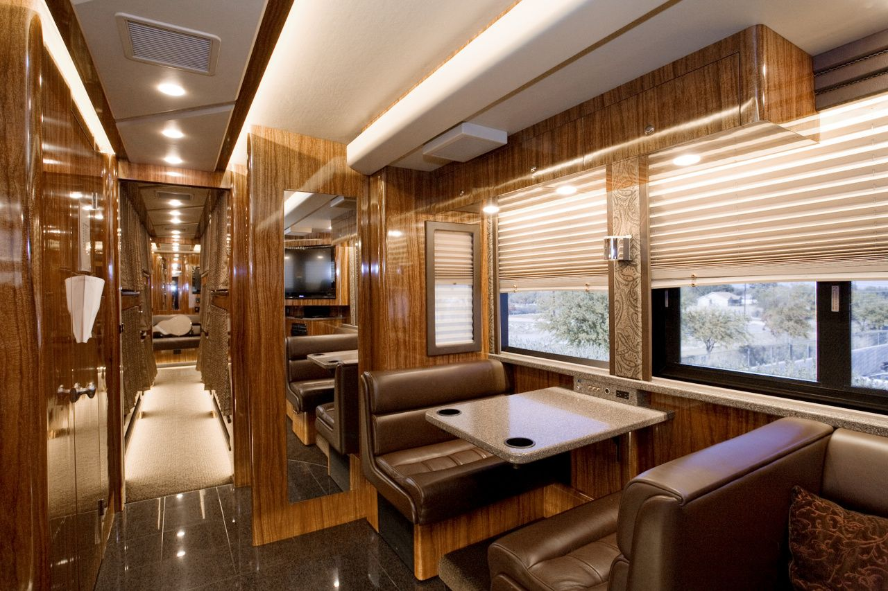 Tour bus interior professional sound lighting music Tour bus interior design