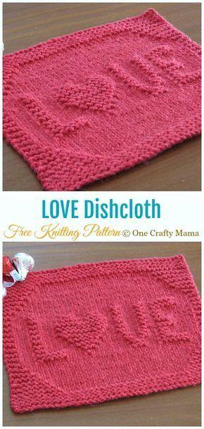 10 Valentine Heart Dish Cloth Free Knitting Patterns - Page 2 of 2 - Crochet & Knitting