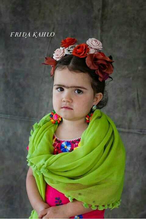 Child dressed as Freida Kahlo \u003c3 - i think this is aveleas halloween - halloween ideas for 3