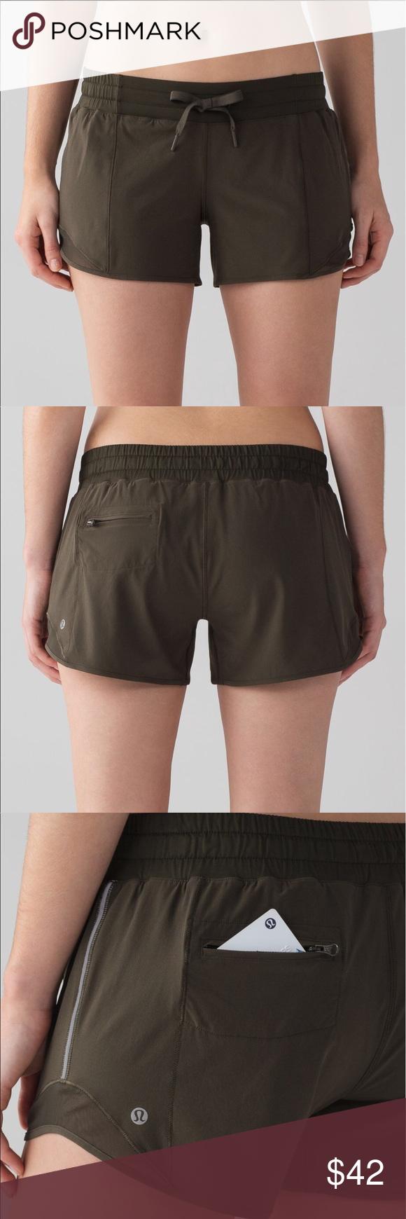 """Lululemon Hotty Hot Shorts """"Long"""" NWOT.  Relaxed fit. Lay flat drawstring. Reflective detail. Lululemon Shorts"""