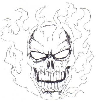 How To Draw Flaming Skulls Step By Pop Culture