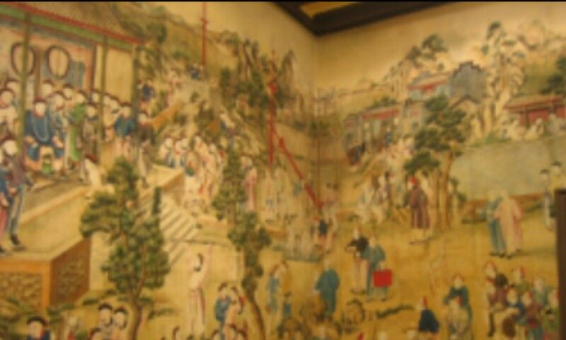 Detalle paredes del salon chino en palacio de la cotilla