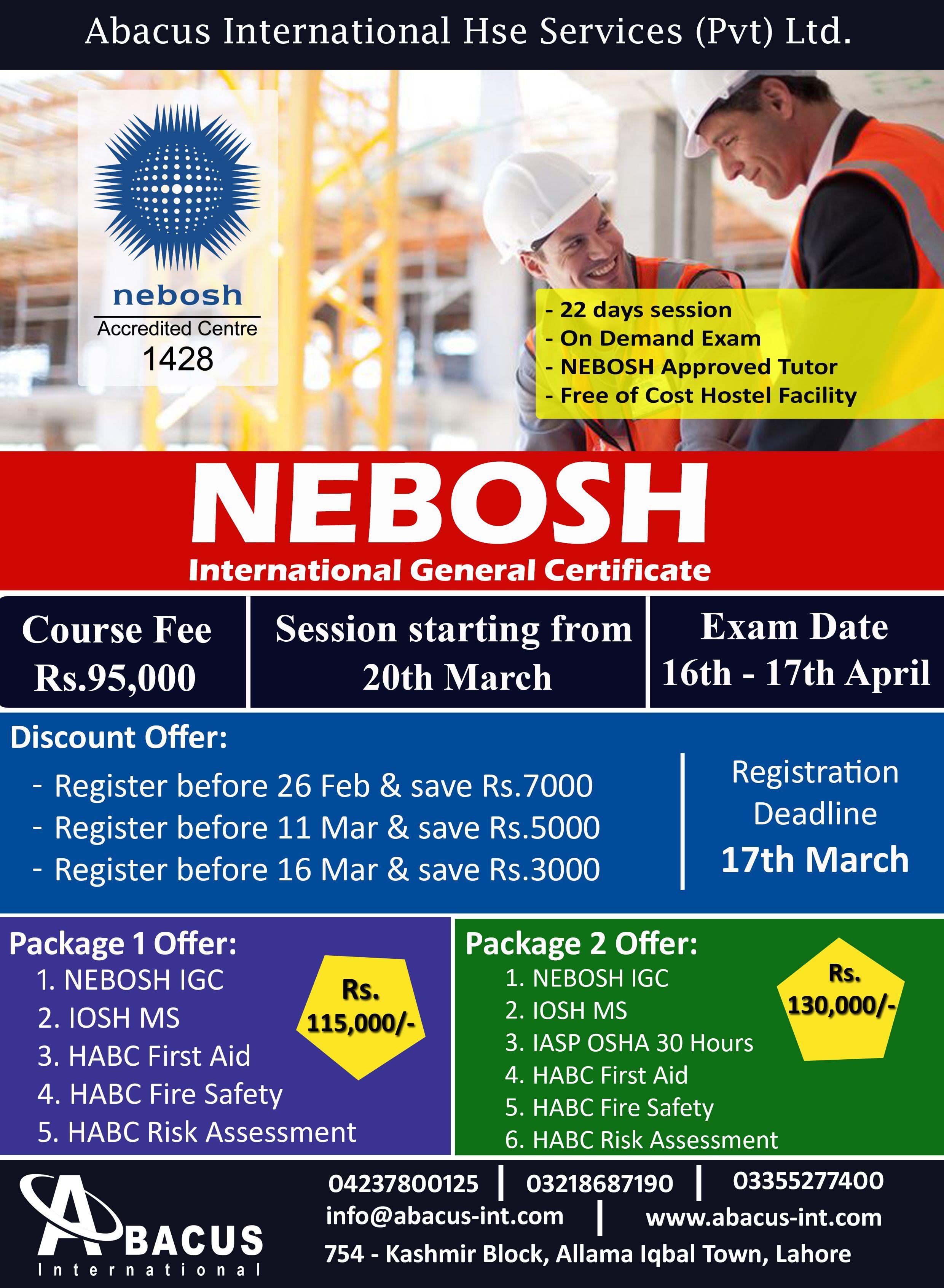 Nebosh igc course in pakistan exam tutor group sessions