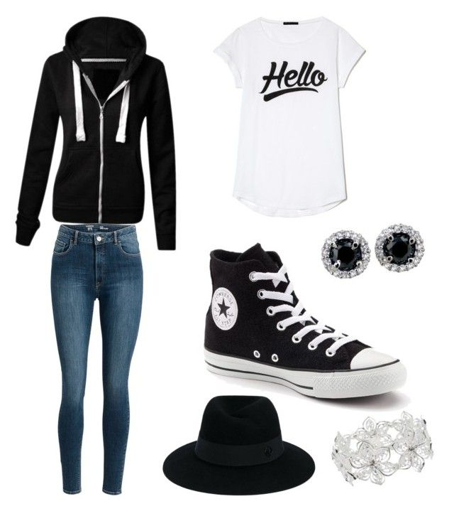 """""""Yo twin's :)"""" by fischer45 ❤ liked on Polyvore featuring Converse, Maison Michel and M&Co"""