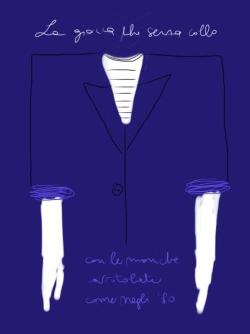 La giacca blu senza collo  http://opentoe.posterous.com/il-capitolo-giacca