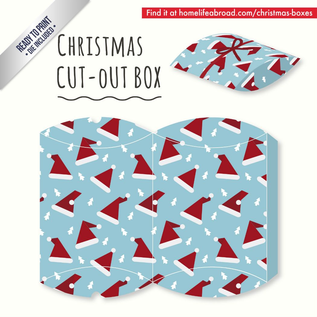 Mega Collection of 38 Cut-Out Christmas Box Templates Part 4 ...