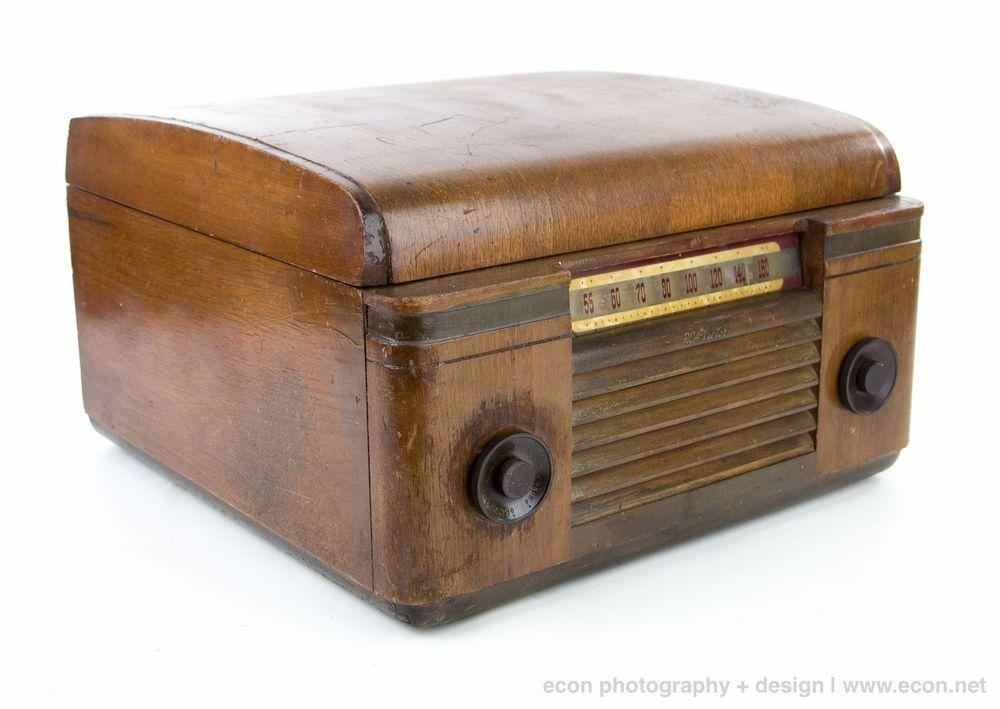 Vintage Rca Victor 65u Tube Radio Phonograph Record Player