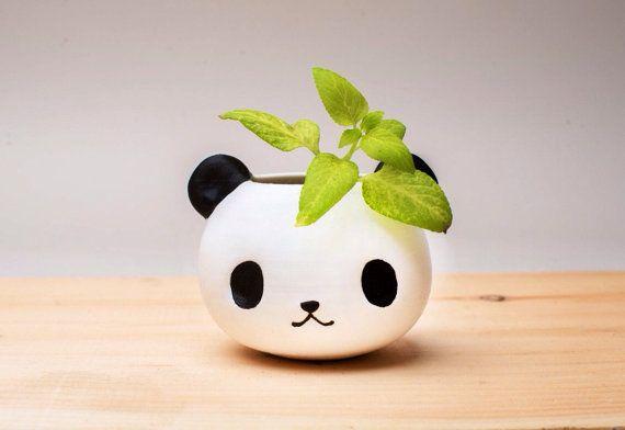 Panda Planter Mother S Day Gift Panda Gifts Christmas Etsy Planter Gift Flower Pots Panda Gifts