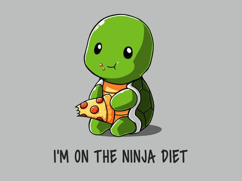 Ninja calories are there and then they're gone! Just like real calories! No, wait...