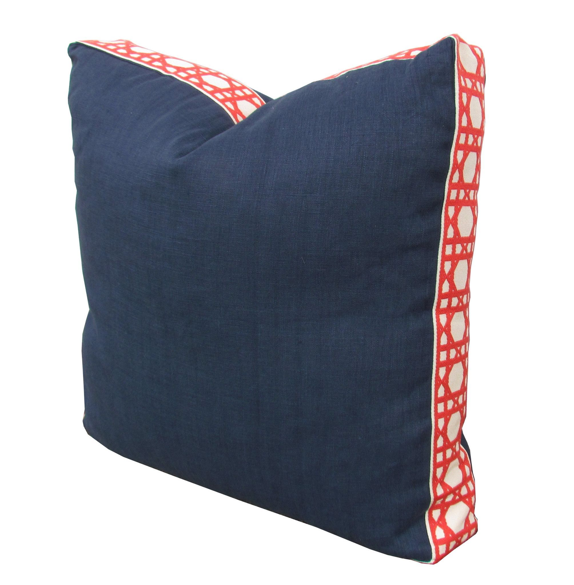 pillows coral poufs pillow in seafoam kids and navy cover product patterned medallion