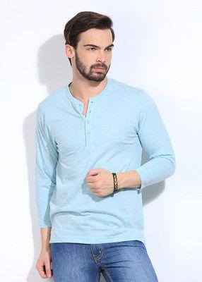 78272e1abb4c FREECULTR Solid Men's Henley T-Shirt | Men's Fashion | Mens tops ...