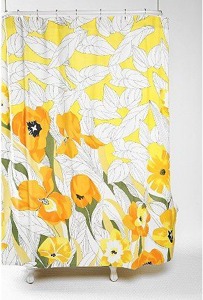 This Daffodil Shower Curtain Is Everything To Me Flowers Bathroom Yellow
